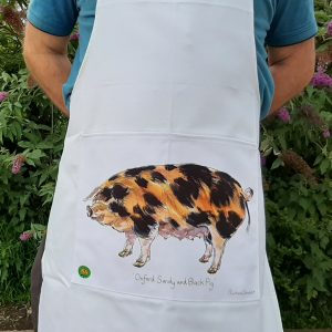 Oxford Sandy Black Pig Group Apron with Logo